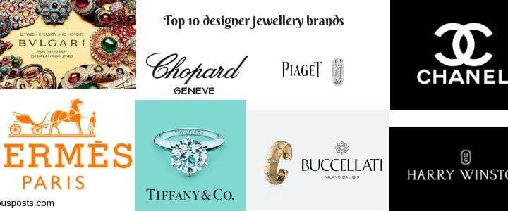 Top 10 Trendy Designer jewellery brands list