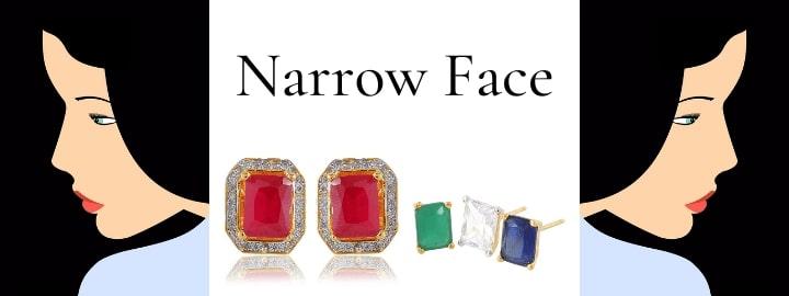 earrings for narrow face